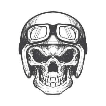 برچسب بدنه خودرو گراسیپا طرح Skull مدل ۰۲