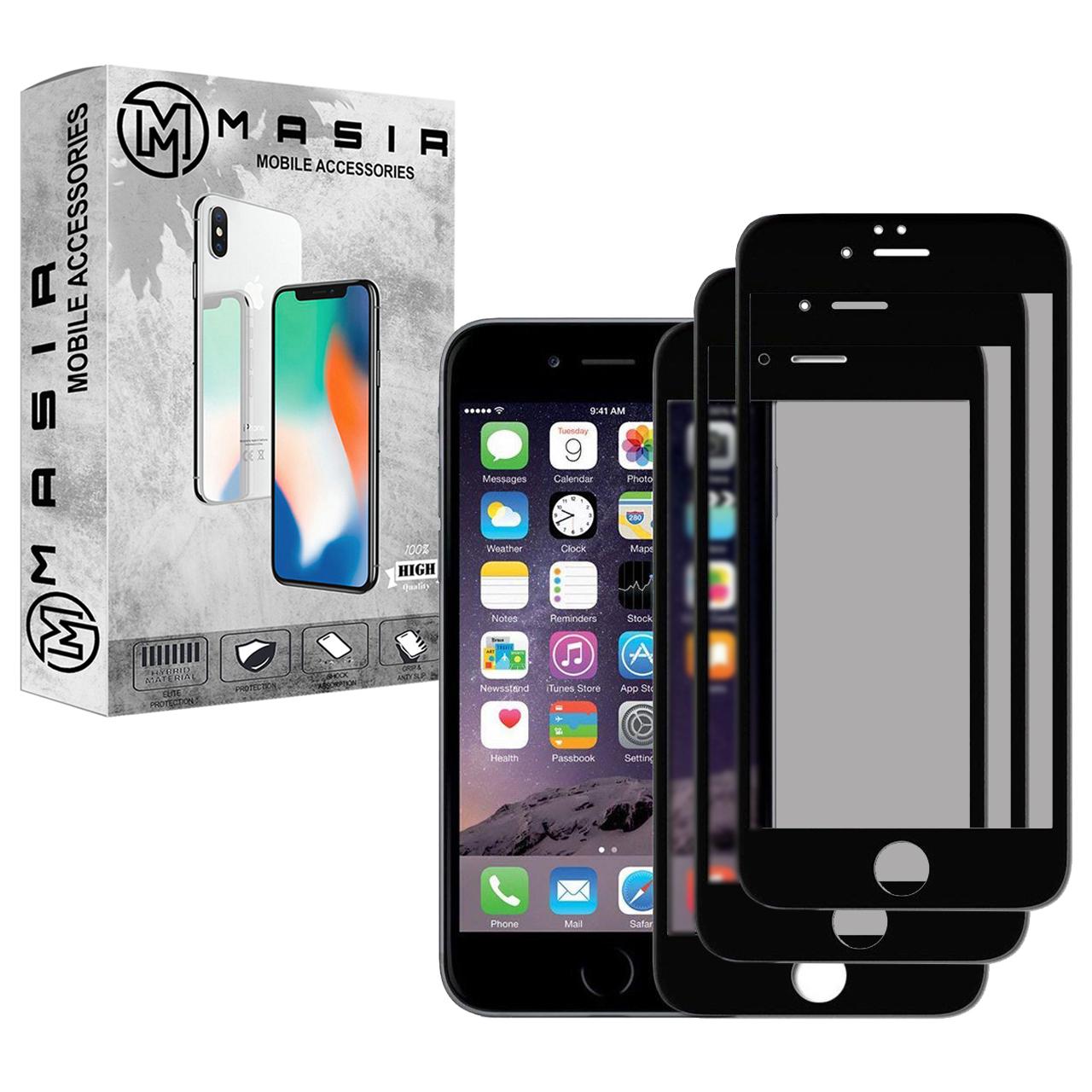 محافظ صفحه نمایش حریم شخصی مسیر مدل MGFPV-3 مناسب برای گوشی موبایل اپل iPhone 7/8  بسته سه عددی