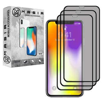 محافظ صفحه نمایش حریم شخصی مسیر مدل MGFPV-3 مناسب برای گوشی موبایل اپل iPhone X/XS  بسته سه عددی