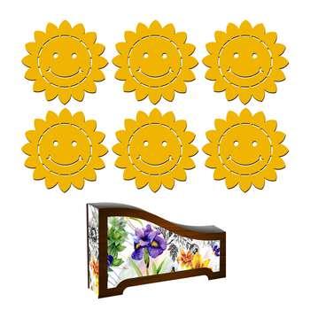 زیر لیوانی لوکسینو طرح خورشید کد BMSH_3 مجموعه 6 عددی