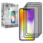 محافظ صفحه نمایش حریم شخصی مسیر مدل MGFPV-3 مناسب برای گوشی موبایل اپل iPhone XS MAX  بسته سه عددی