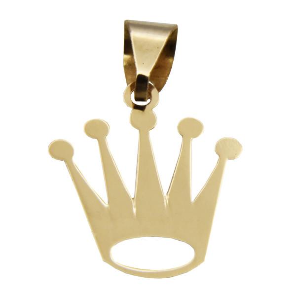 آویز گردنبند طلا 18 عیار زنانه طرح تاج کد 508M226