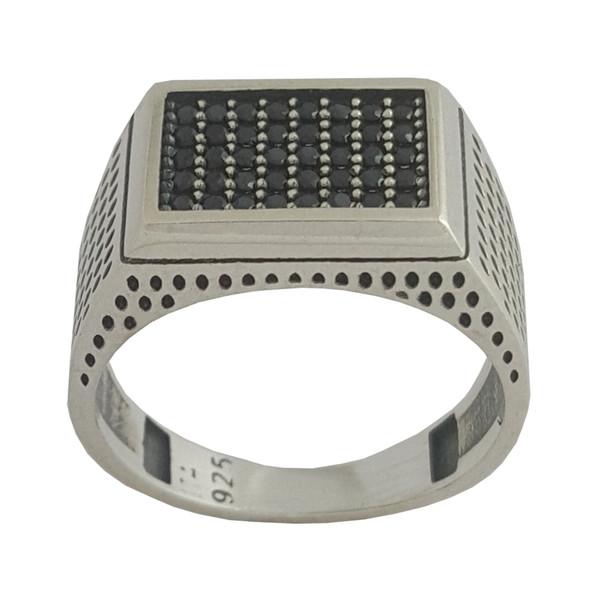 انگشتر نقره مردانه بلو استون کد 1001-62