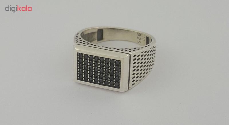 انگشتر نقره مردانه بلو استون کد 1001-60