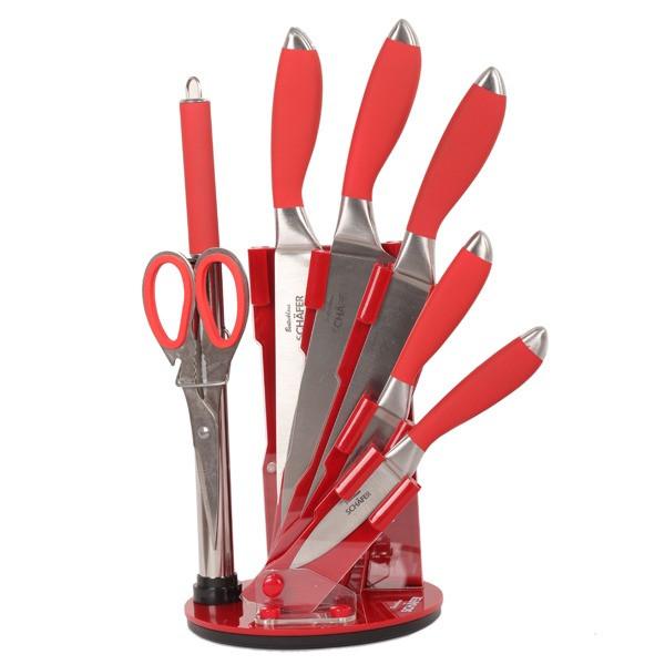 سرویس چاقو آشپزخانه 8 پارچه شفر کد 3