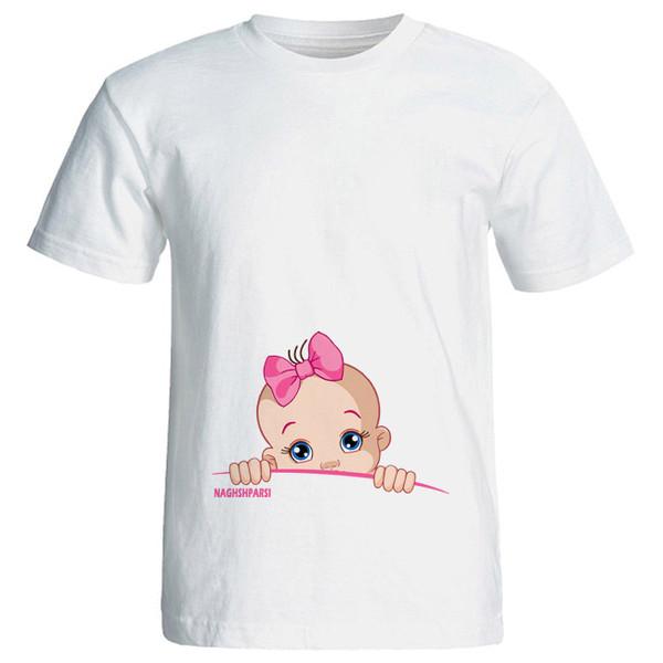 تی شرت بارداری طرح girl کد 3948