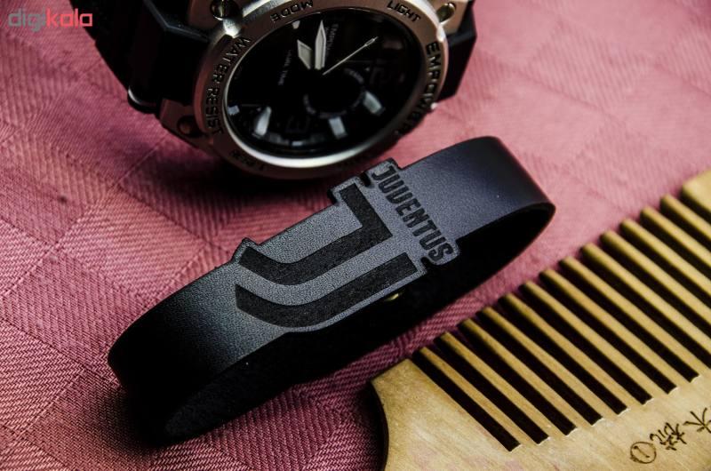 دستبند چرمینه اسپرت طرح یوونتوس کد 4018-B