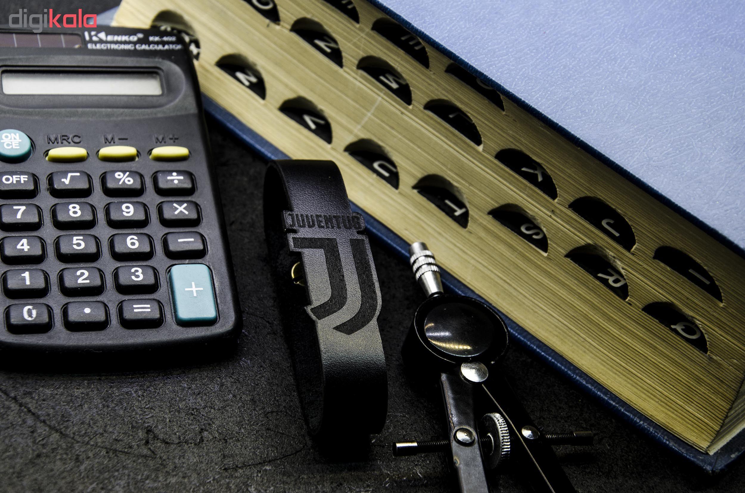 دستبند چرمینه اسپرت طرح یوونتوس کد 4018-B main 1 4