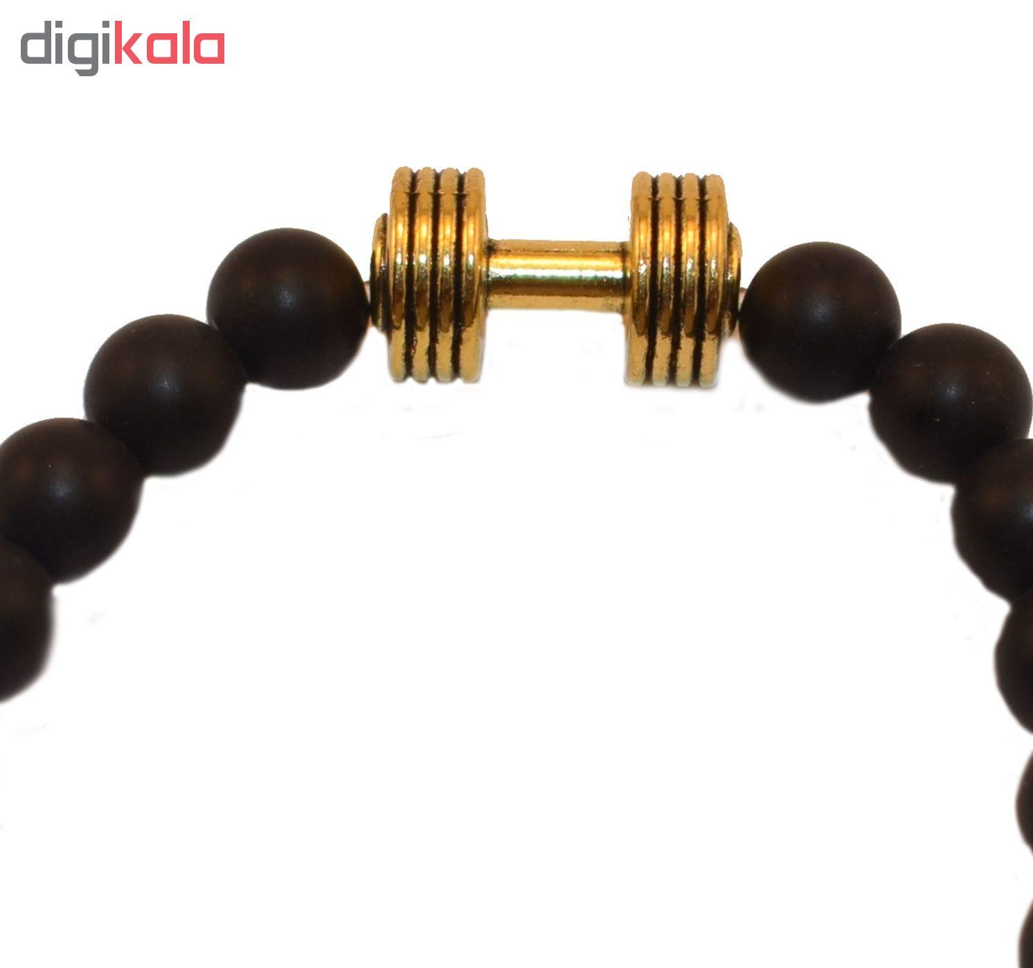 دستبند مردانه طرح دمبل کد M main 1 2
