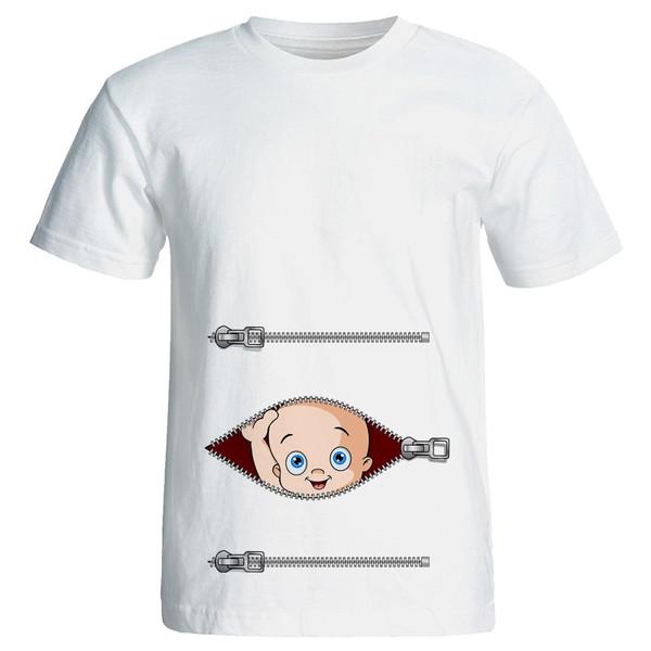 تی شرت بارداری طرح Boy کد 3950