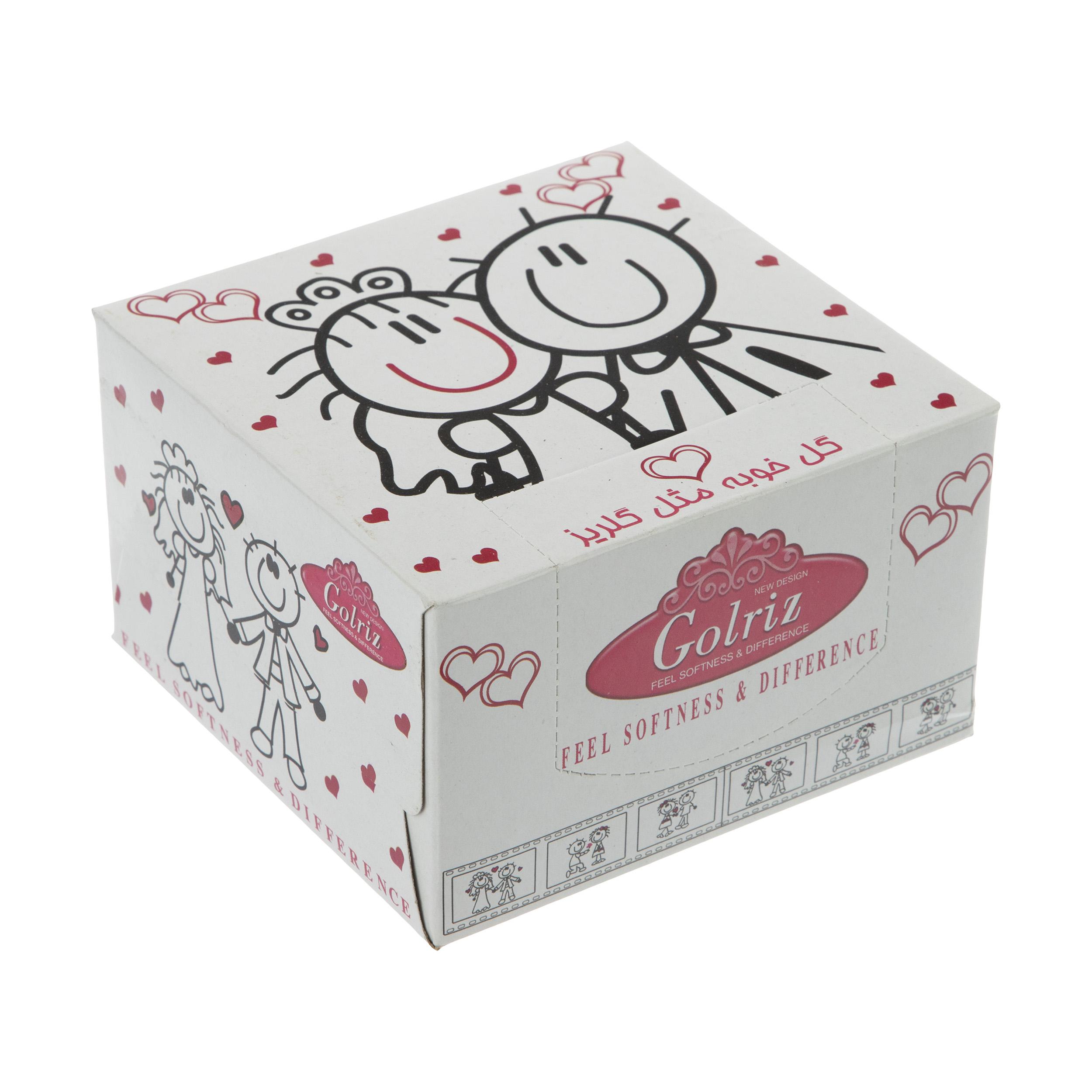 دستمال کاغذی 50 برگ گلریز گلدار طرح روياي کودکانه