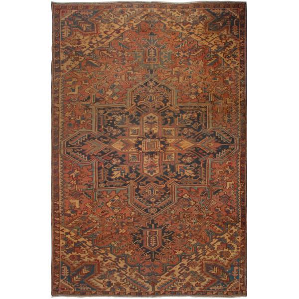 فرش دستبافت رنگ شده پنج و نیم متری فرش هریس کد 101472
