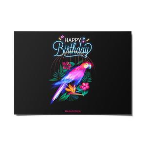 کارت پستال ماسا دیزاین طرح تبریک تولد کد POST200