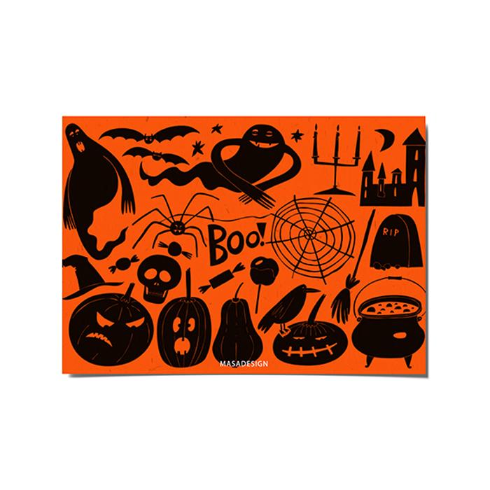 کارت پستال ماسا دیزاین طرح هالووین کد POST194