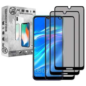 محافظ صفحه نمایش حریم شخصی مسیر مدل MGFPV-3 مناسب برای گوشی موبایل هوآوی Y7 2019  بسته سه عددی