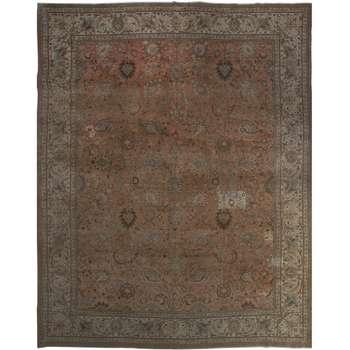 فرش رنگ شده دستبافت پانزده و نیم متری فرش هریس کد 101484