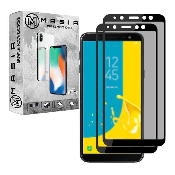 محافظ صفحه نمایش حریم شخصی مسیر مدل MGFPV-2 مناسب برای گوشی موبایل موبایل سامسونگ Galaxy J4 Plus بسته دو عددی