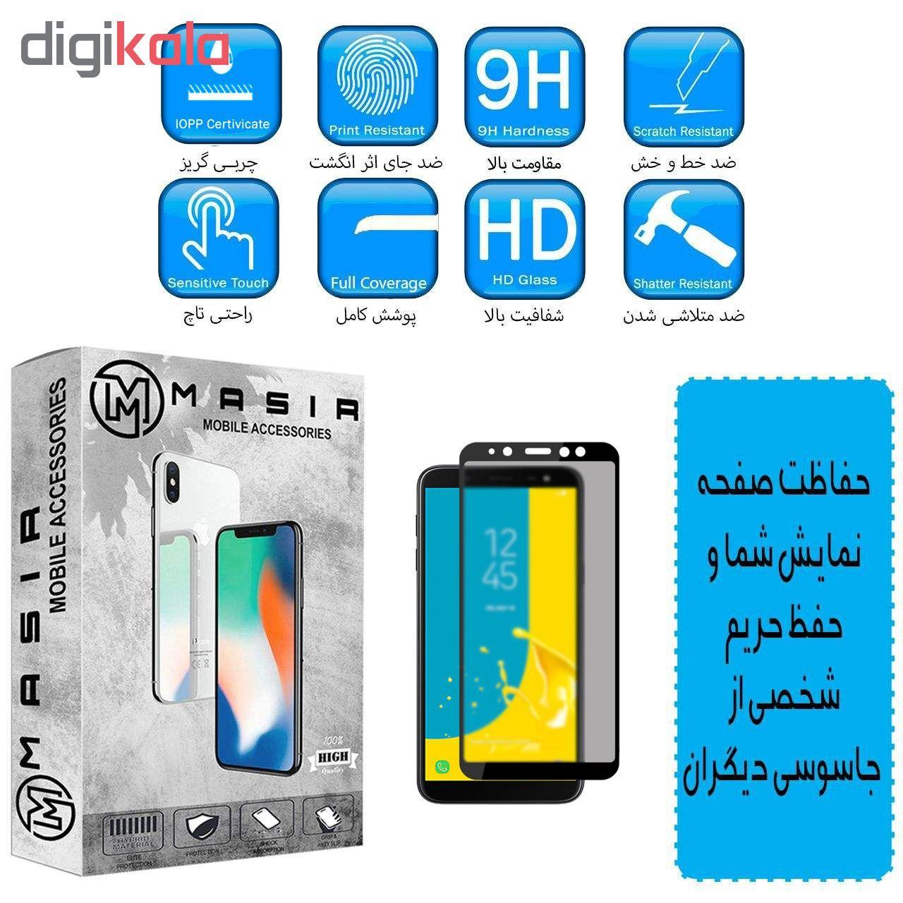 محافظ صفحه نمایش حریم شخصی مسیر مدل MGFPV-2 مناسب برای گوشی موبایل موبایل سامسونگ Galaxy J4 Plus بسته دو عددی main 1 1
