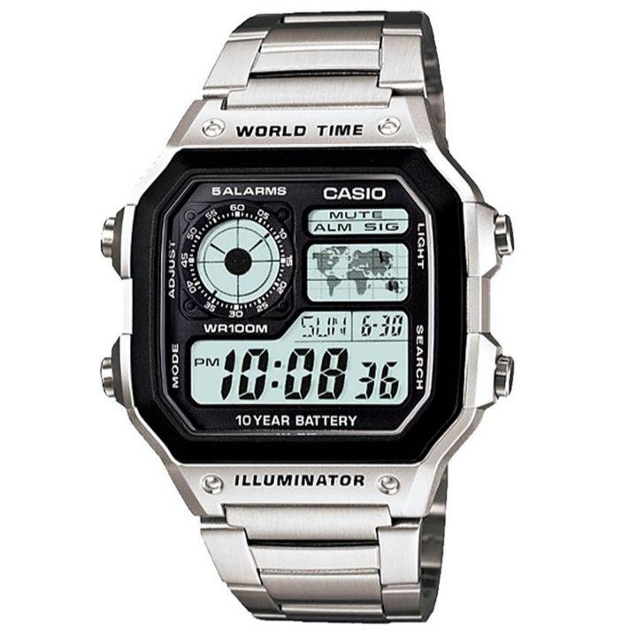 کد تخفیف                                      ساعت مچی دیجیتال مردانه مدل AE-1200WHD                     غیر اصل