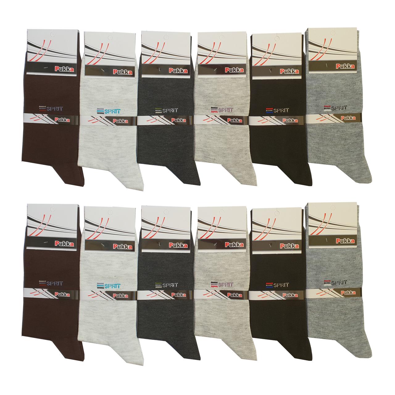 تصویر جوراب مردانه پوکا مدل S مجموعه 12 عددی