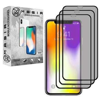 محافظ صفحه نمایش حریم شخصی مسیر مدل MGFPV-3 مناسب برای گوشی موبایل اپل iPhone 11 Pro  بسته سه عددی