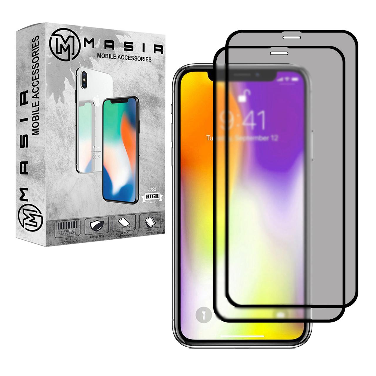 محافظ صفحه نمایش حریم شخصی مسیر مدل MGFPV-2 مناسب برای گوشی موبایل اپل iPhone 11 Pro Max  بسته دو عددی