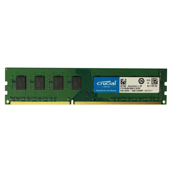 رم دسکتاپ DDR3 تک کاناله 1600 مگاهرتز CL11 کروشیال مدل UDIMM ظرفیت 4 گیگابایت