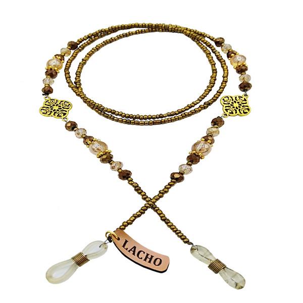 بند عینک زنانه لاچو مدل metal gold کد M-G