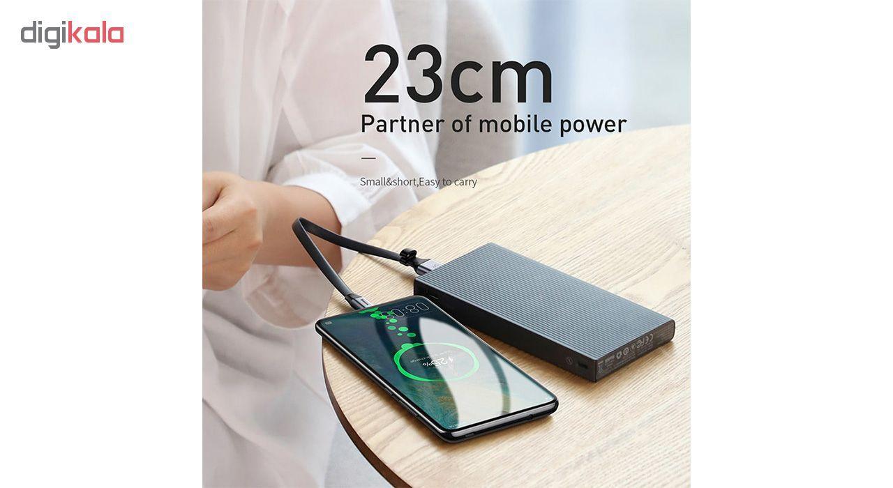 کابل تبدیل USB به USB-C باسئوس مدل Simple HW طول 0.23 متر main 1 1