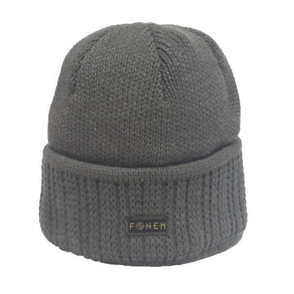 کلاه بافتنی مردانه فونم کد 2103 رنگ طوسی