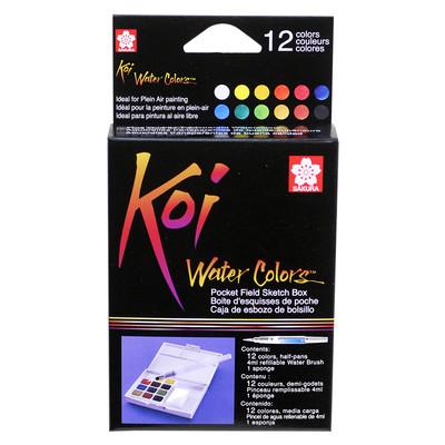 آبرنگ 12 رنگ ساکورا مدل koi-12