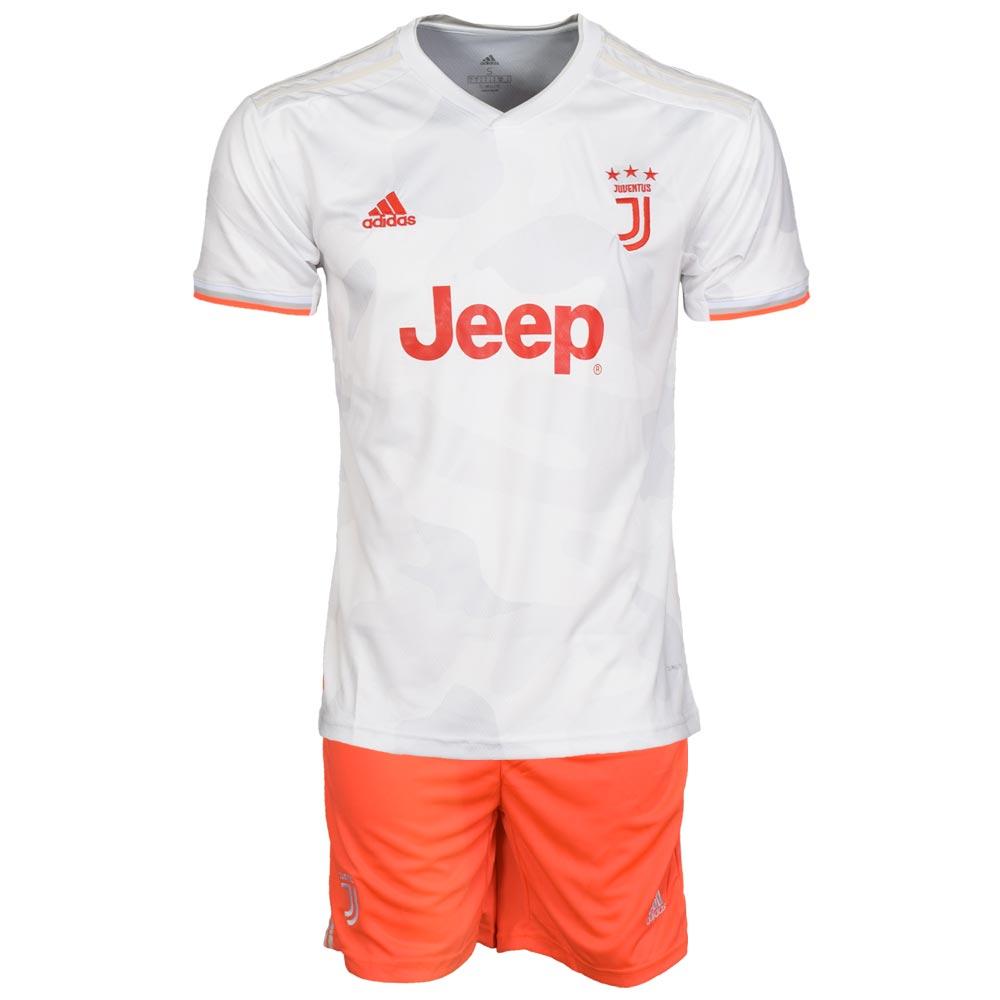 ست پیراهن و شورت ورزشی مردانه طرح یوونتوس کد 2019.20 رنگ طوسی