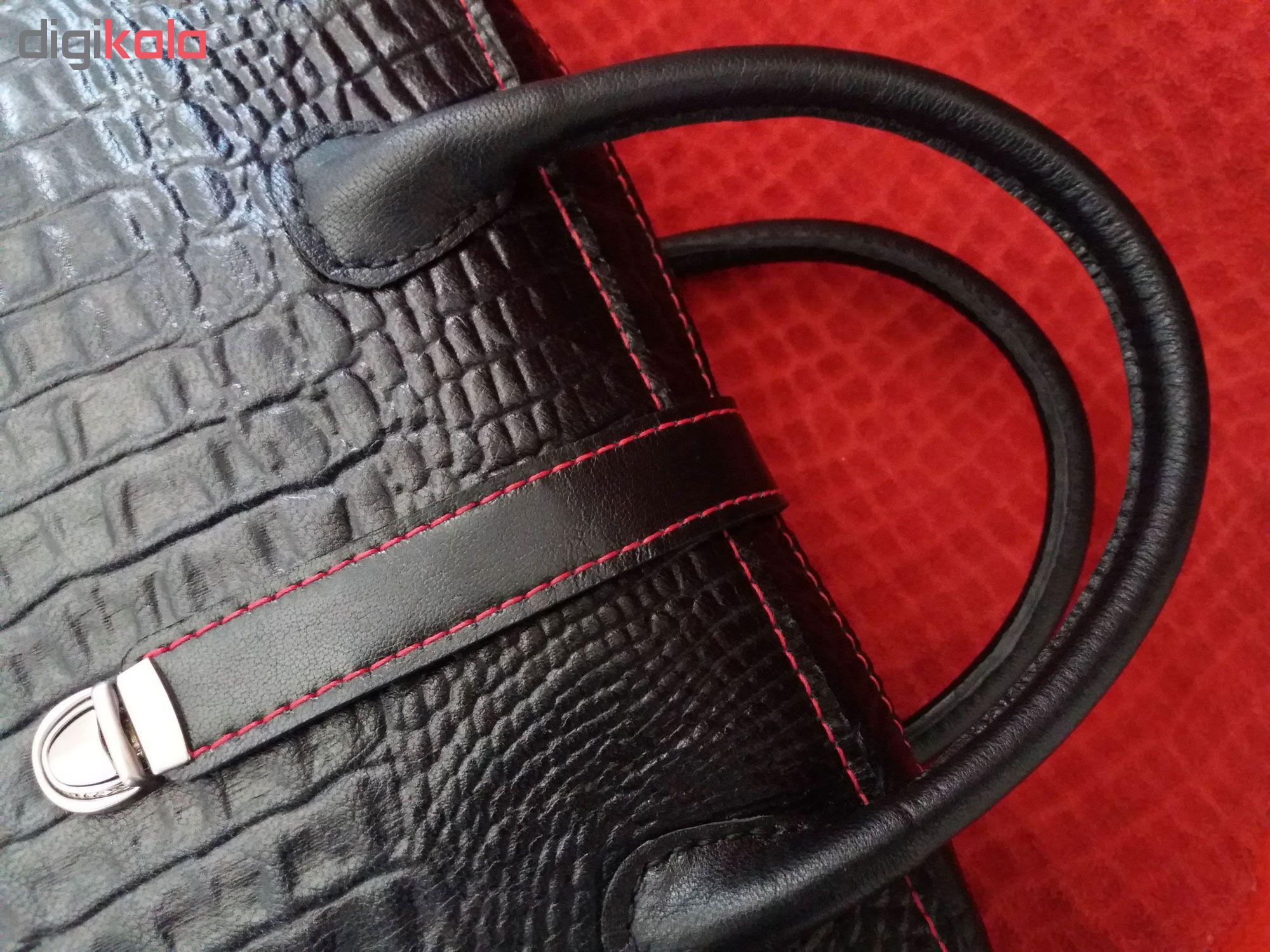 کیف مجلسی- اداری  چرم طبیعی  دستدوز مژی مدل  VW