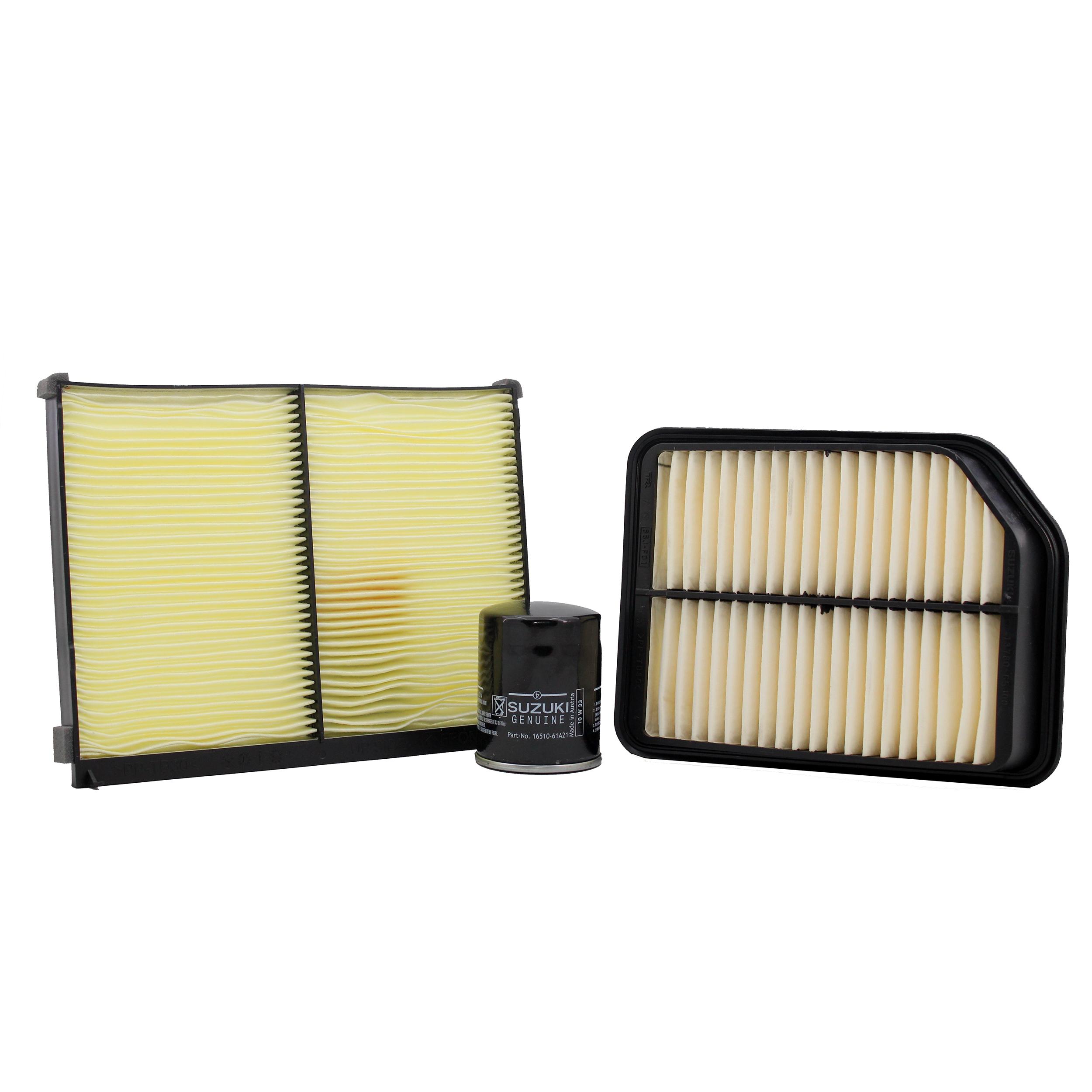 فیلتر روغن خودرو سوزوکی مدل 16510-61A21 مناسب برای سوزوکی گراند ویتارا  به همراه فیلتر هوا و فیلتر کابین