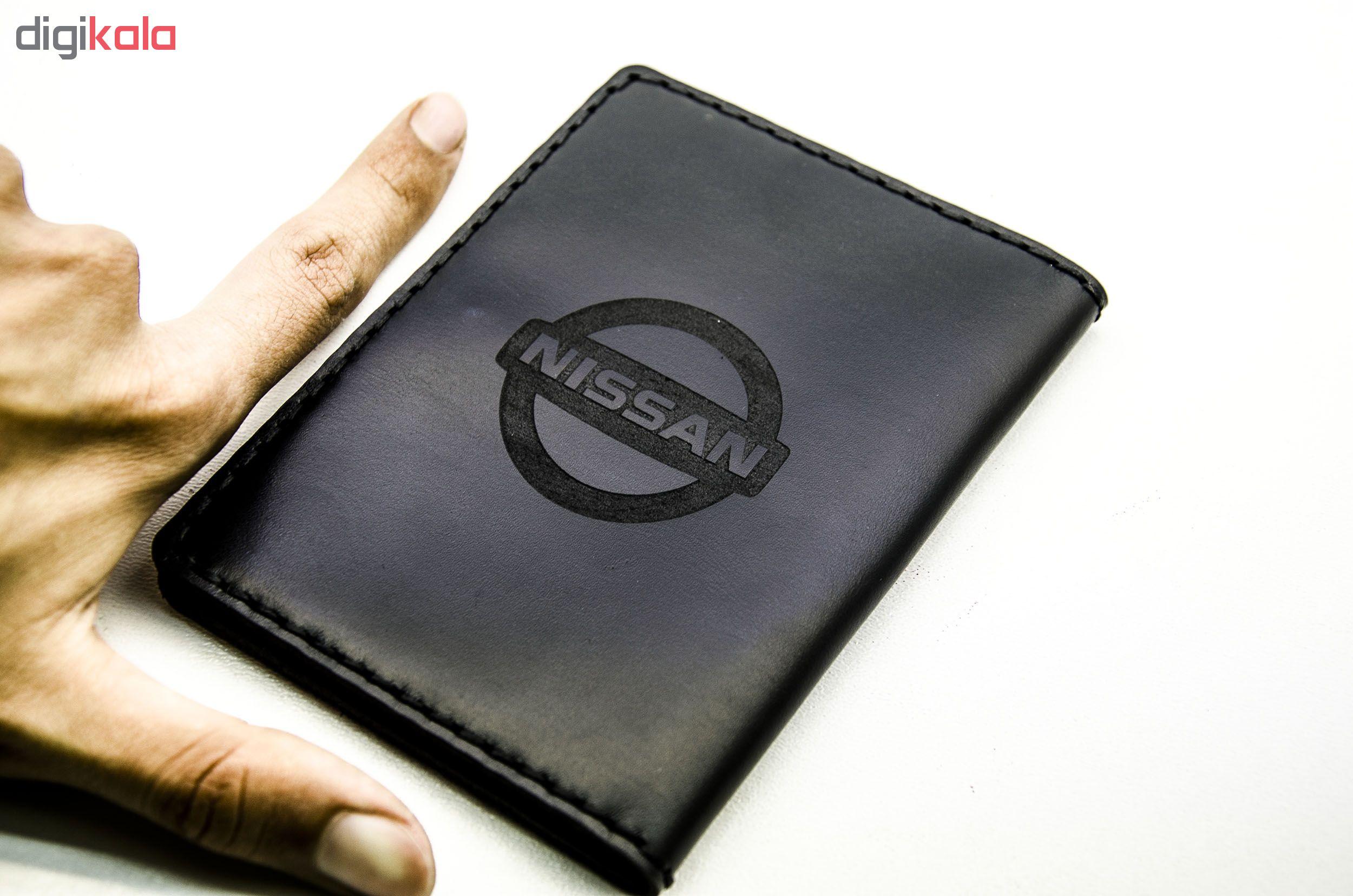 کیف مدارک مردانه چرمینه اسپرت طرح نیسان کد 43024-B main 1 1
