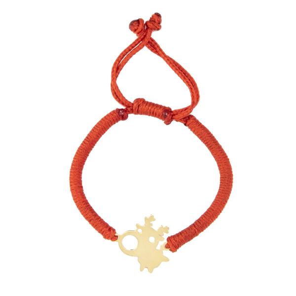 دستبند طلا 18 عیار دخترانه گالری طلامون کد DK1005