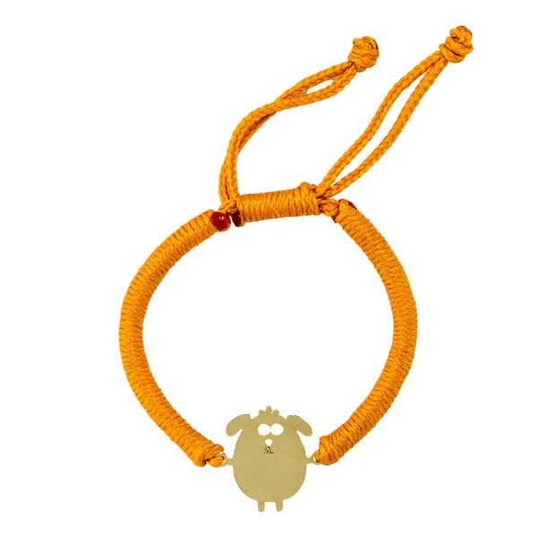 دستبند طلا 18 عیار دخترانه  گالری طلامون کد DK1007