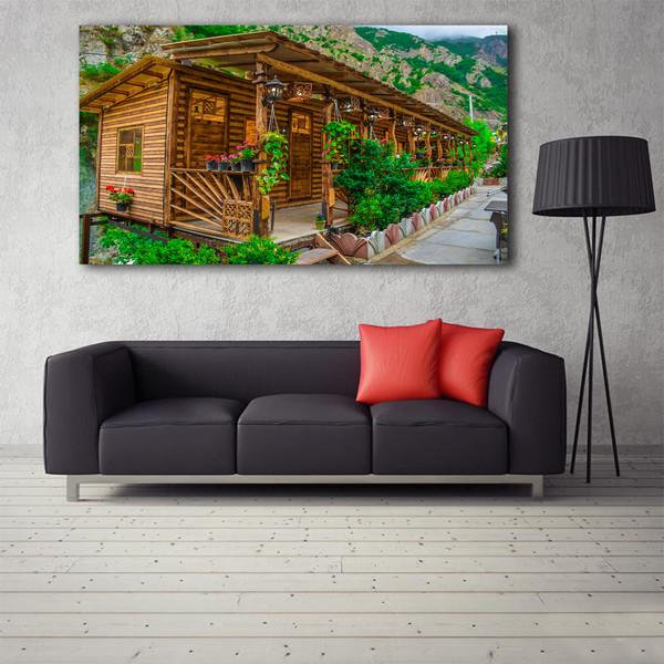 تابلو شاسی طرح کلبه چوبی کد 0115