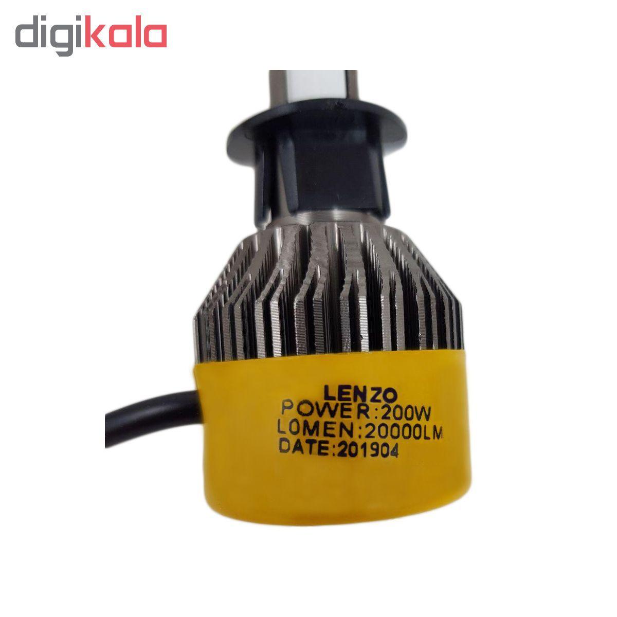 لامپ  ال ای دی  خودرو  لنزو  مدل  S2/H1  بسته 2 عددی main 1 6