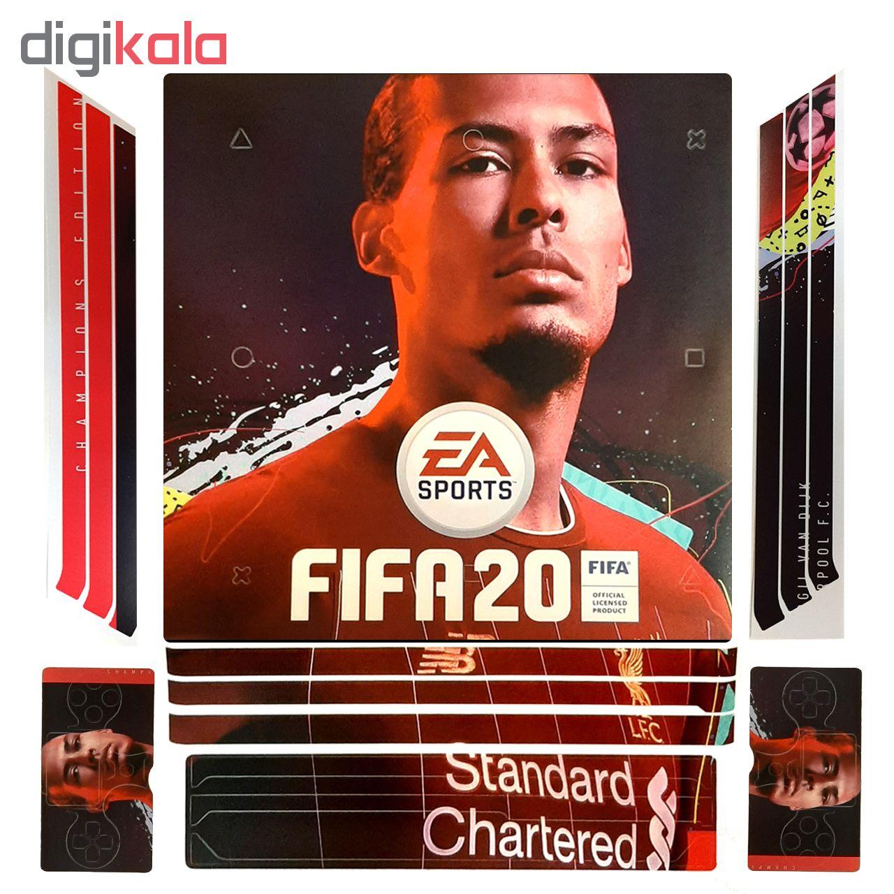 خرید اینترنتی برچسب پلی استیشن 4 پرو طرح Fifa 20 اورجینال