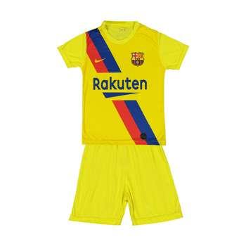 ست پیراهن و شورت ورزشی پسرانه طرح بارسلونا مدل 002