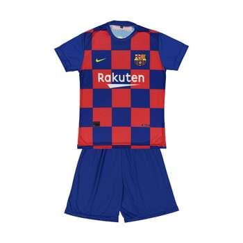 ست پیراهن و شورت ورزشی پسرانه طرح بارسلونا مدل 004