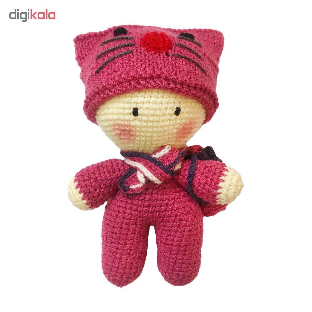 خرید                      عروسک بافتنی طرح نی نی سرمایی کیف دار کد 112