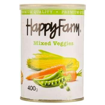 کنسرو مخلوط سبزیجات هپی فارم - 400 گرم