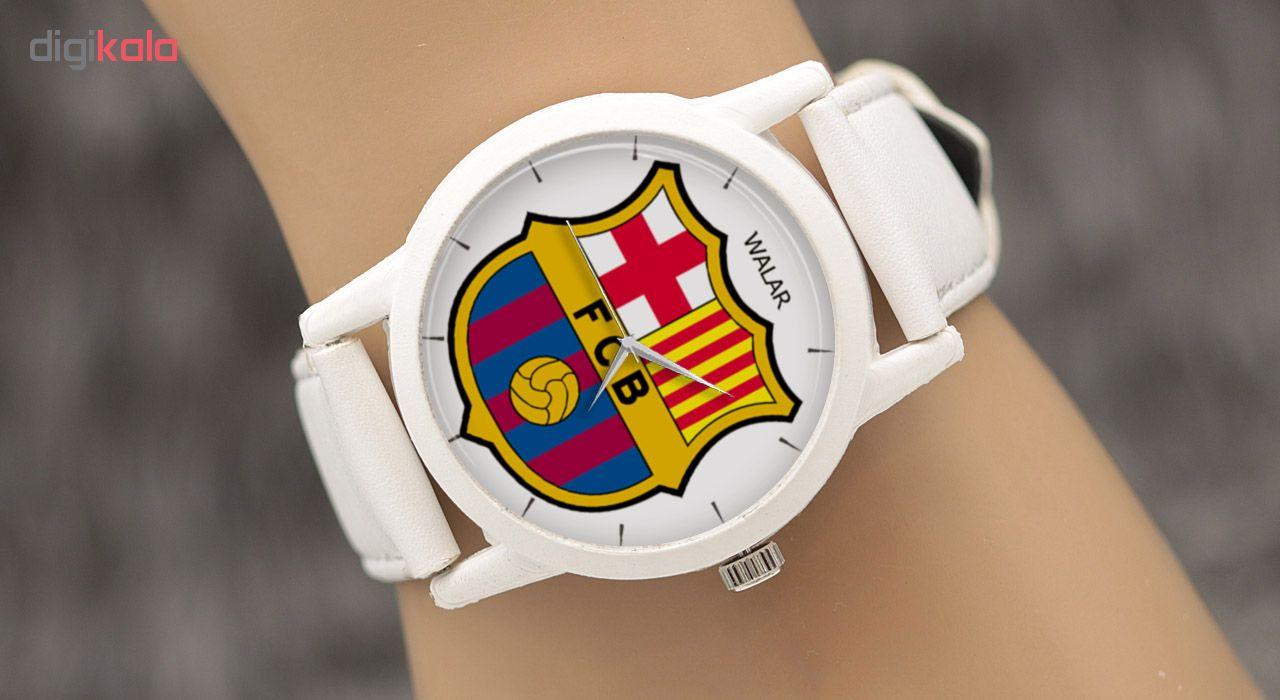ساعت مچی عقربه ای والار طرح بارسلونا کد LF1608