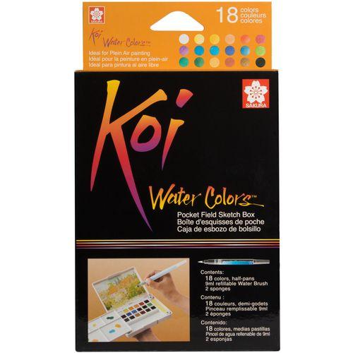 آبرنگ 18 رنگ ساکورا مدل koi-18