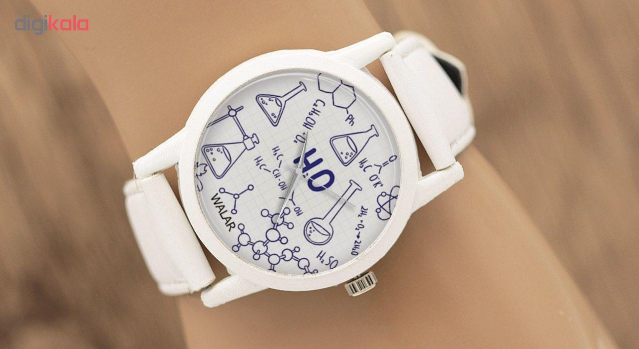 کد تخفیف                                      ساعت مچی عقربه ای والار طرح شیمی کد LF1598
