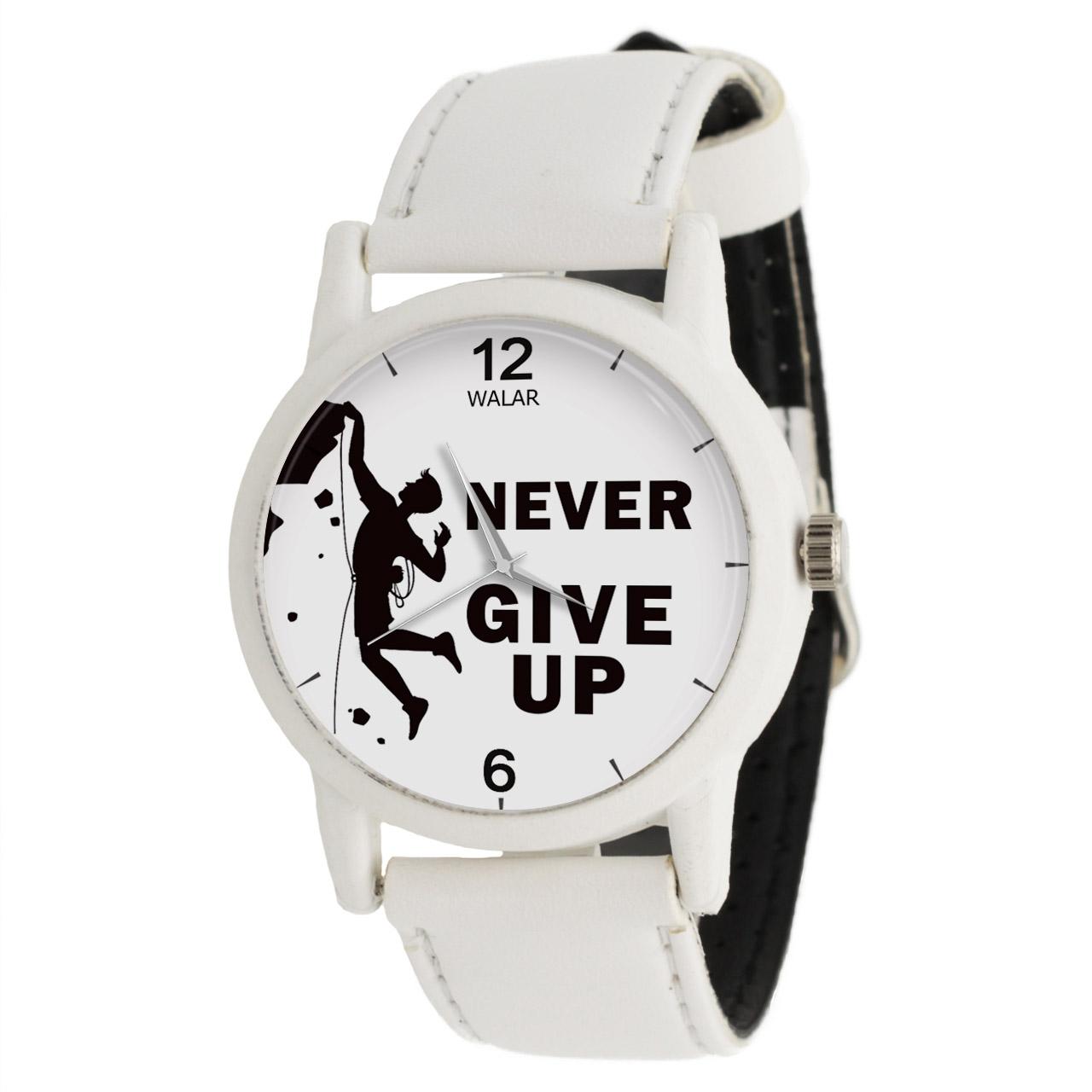 کد تخفیف                                      ساعت مچی عقربه ای والار طرح Never Give Up کد LF1593