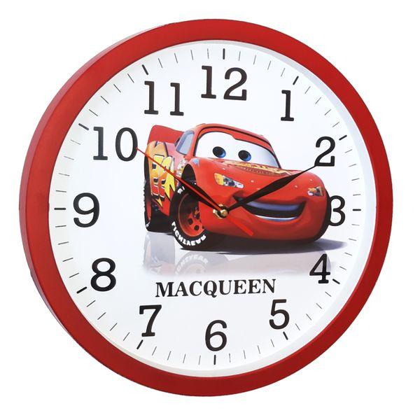 ساعت دیواری کودک طرح مک کویین C06