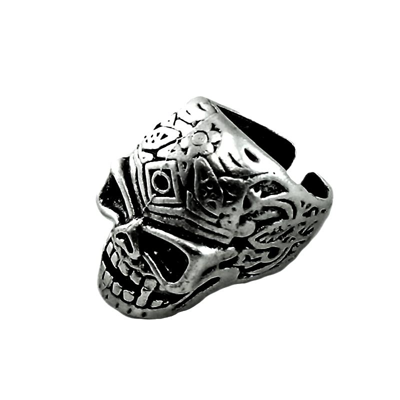 انگشتر مردانه طرح جمجمه کد esk66